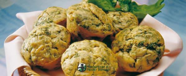 Muffins de Espinafre Fit